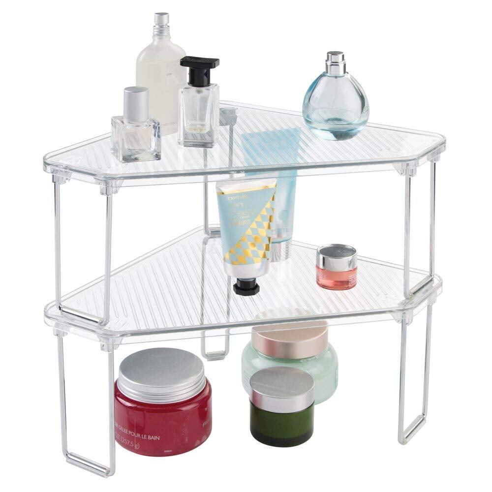 mDesign Corner Plastic Organiser