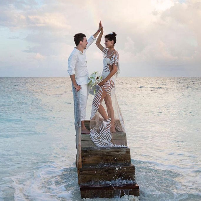 Isabeli Fontana\'s Sheer Wedding Dress | POPSUGAR Fashion