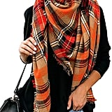 Yexipo Plaid Blanket Scarf
