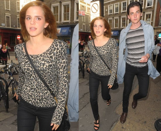 Pictues of Emma Watson and Mystery Man Out in London