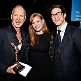 Michael Keaton, Jessica Chastain, and Andy Samberg