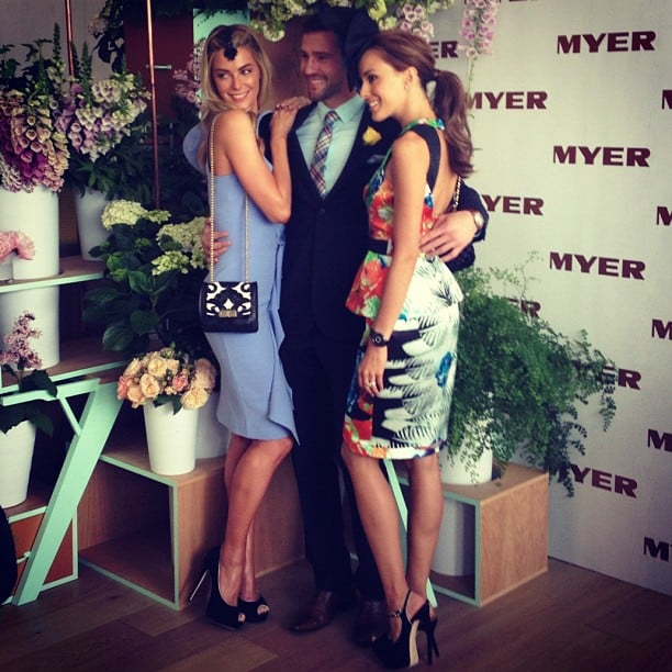 Myer ambassadors Jennifer Hawkins, Kris Smith and Rebecca Judd got close for a photo. Source: Instagram user myer_mystore