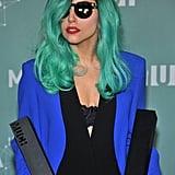 Lady Gaga With Teal Hair