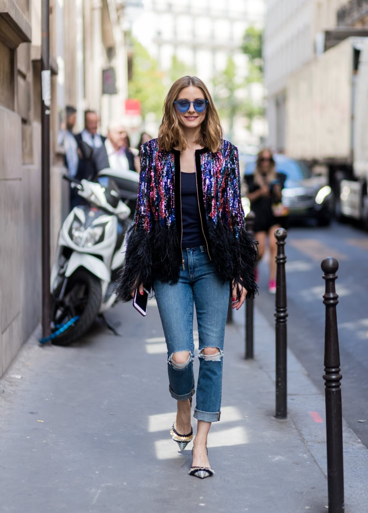 With a feathered jacket for special occasions