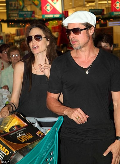 Angelina Jolie and Brad Pitt do some last minute Christmas shopping(december 23)at a mall in Windhoek,Namibia