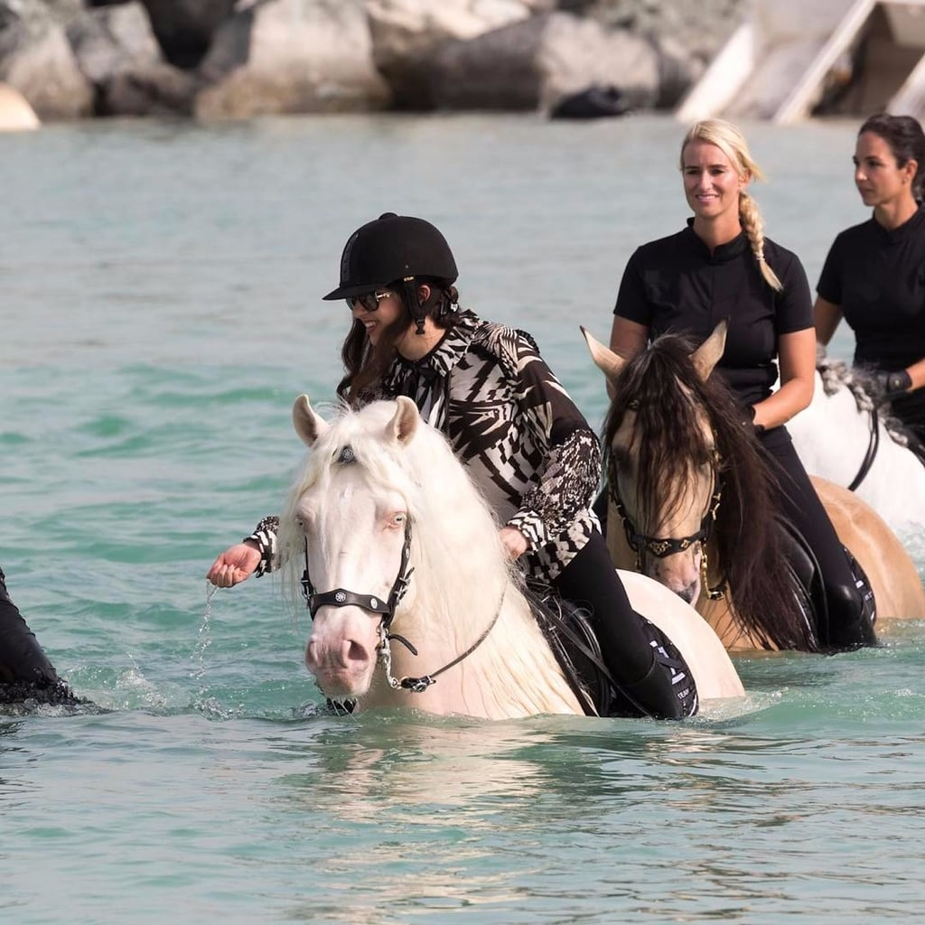 Dubai Sheikhas Do Horse-Powered Wakeboarding on the Beach