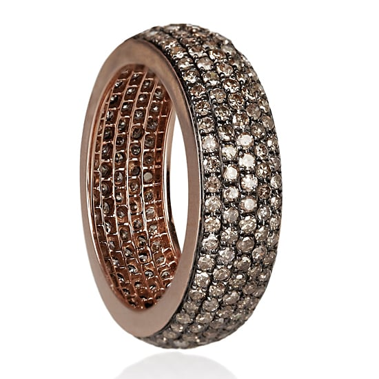 Artisan 14 Kt. Rose Gold Pavé  Diamond Ring, $1,545