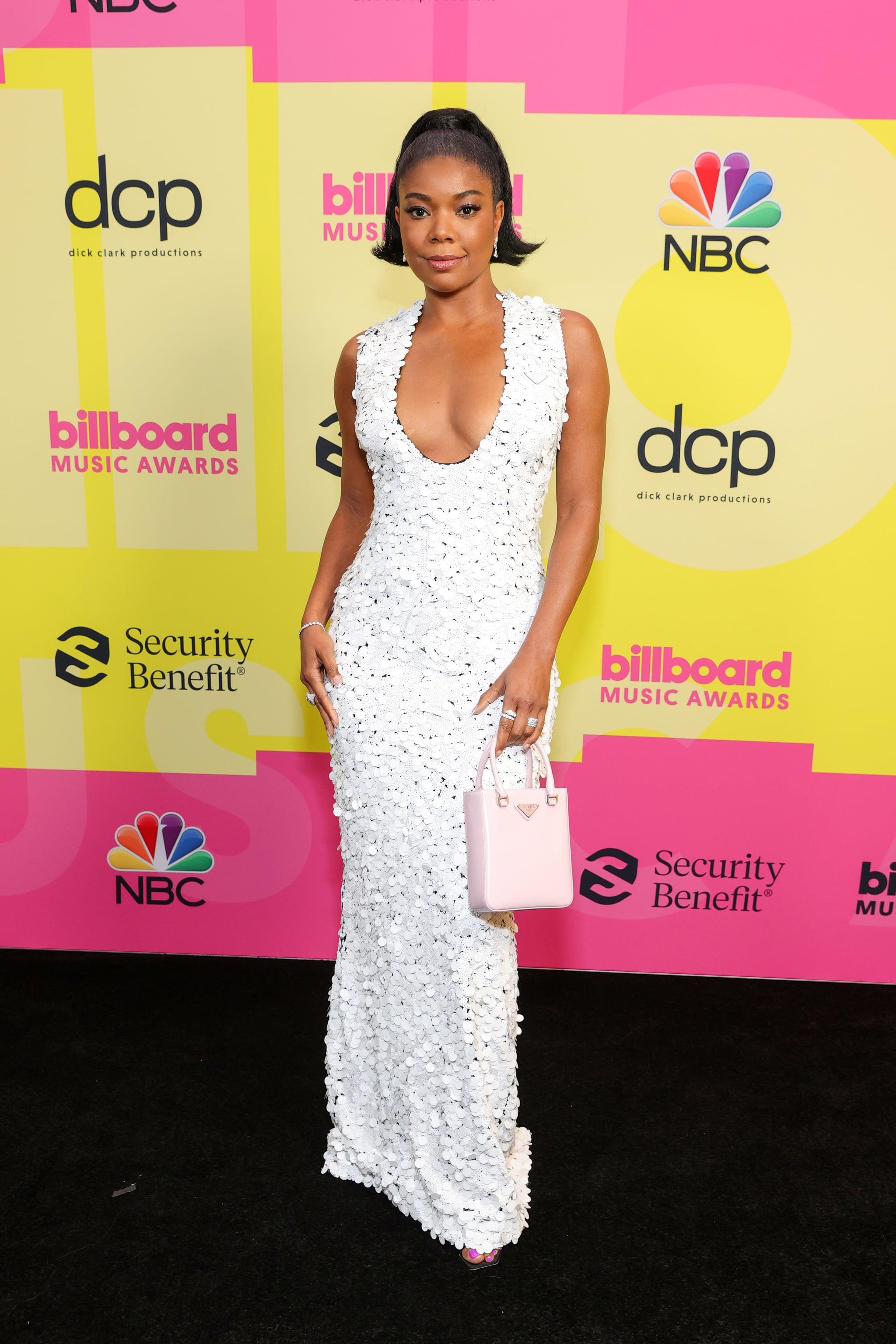 Gabrielle Union's White Prada Dress at 2021 Billboard Awards | POPSUGAR Fashion
