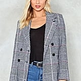 Nasty Gal Check Blazer