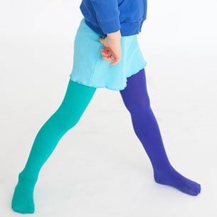 Mismatched Tights For Little Girls