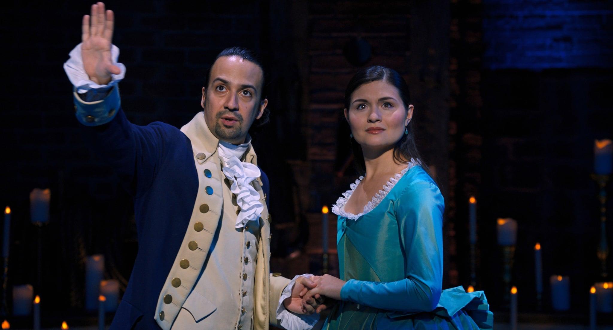 HAMILTON, from left: Lin-Manuel Miranda as Alexander Hamilton, Phillipa Soo as Eliza Hamilton, 2020.  Disney+ / Courtesy Everett Collection