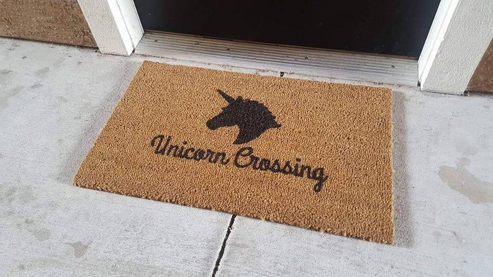 Pisces: Unicorn Doormat