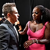 Pictured: Sam Rockwell and Viola Davis