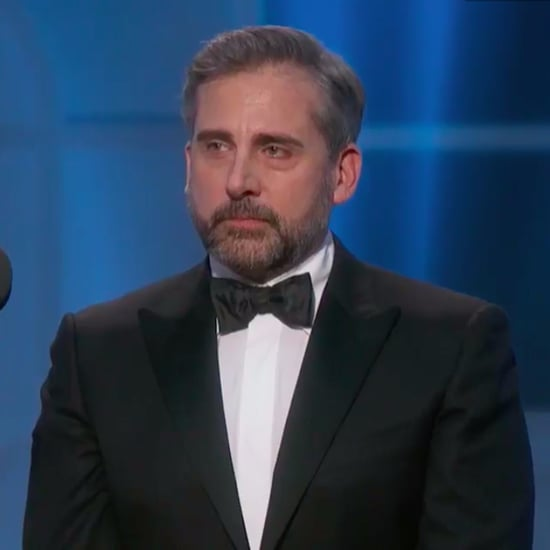 Kristen Wiig and Steve Carell at the 2017 Golden Globes