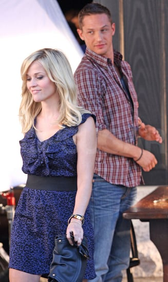 Pictures of Reese Witherspoon Filming With Tom Hardy On Set For This Means War in Vancouver