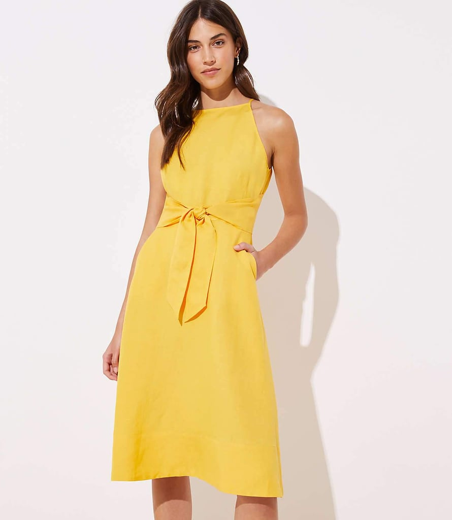 Loft Tie Waist Halter Dress