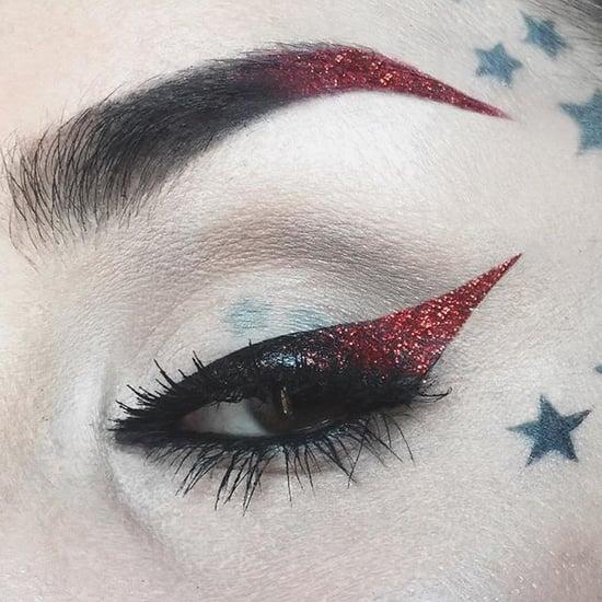 Kat Von D Red Glitter Cat Eye