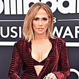 Jennifer Lopez Red Outfit at Billboard Music Awards 2018