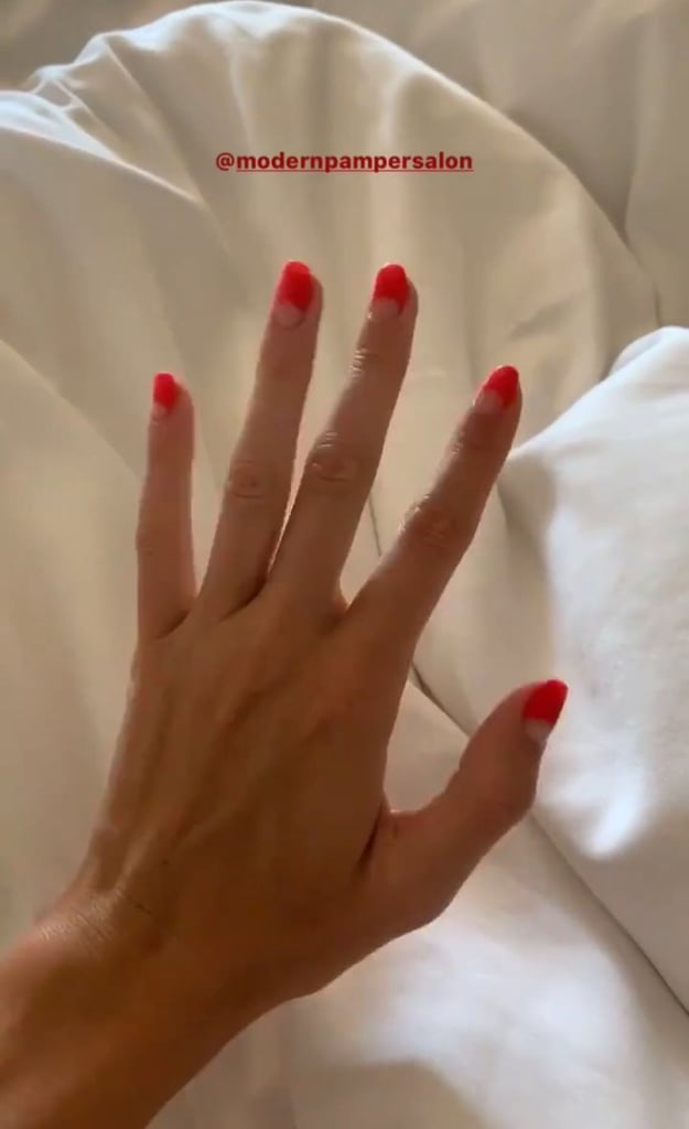 Kendall Jenner's Half-Moon Nail Art