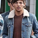Louis Tomlinson was on set for a new video in London.
