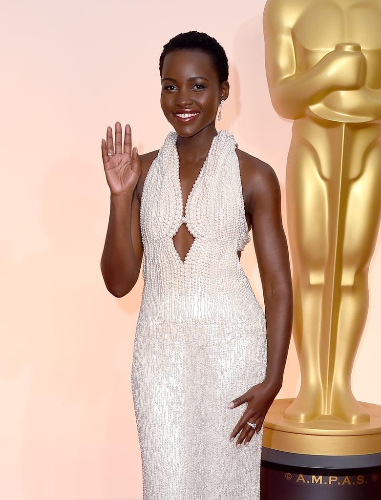 Lupita Nyong'o at the Oscars 2015 Pictures