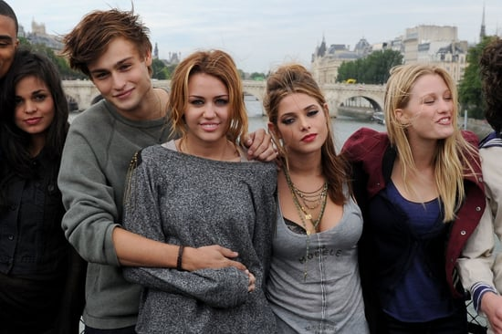 Miley Cyrus gets cosy with her LOL co-star Douglas Booth in Paris