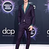 Shawn Mendes Wears an Indigio Suit and Necklaces to the AMAs