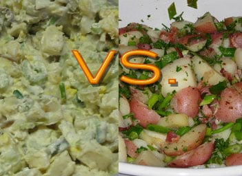 Do you eat classic potato salad made with mayo or German potato salad made with mustard?