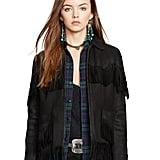 Polo Ralph Lauren Fringe Deerskin Jacket