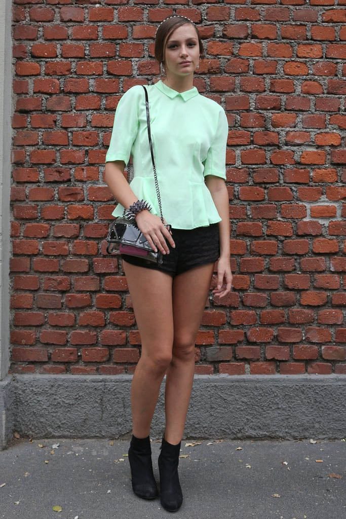 The prim and proper collar gets a pastel green-meets-peplum upgrade. Source: IMAXtree