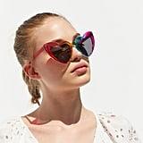 Rainbow Heart Cat-Eye Sunglasses