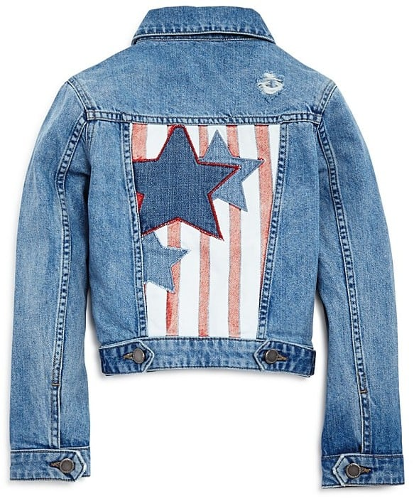 Manning Distressed Stars & Stripes Denim Jacket