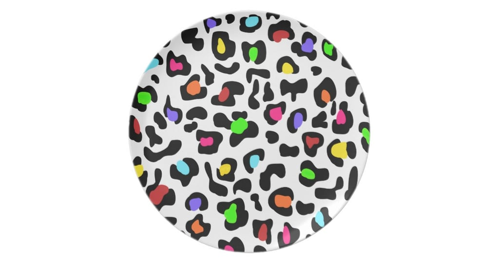 Rainbow Leopard Plate