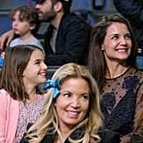 Katie Holmes and Suri Cruise at Lakers Game January 2017