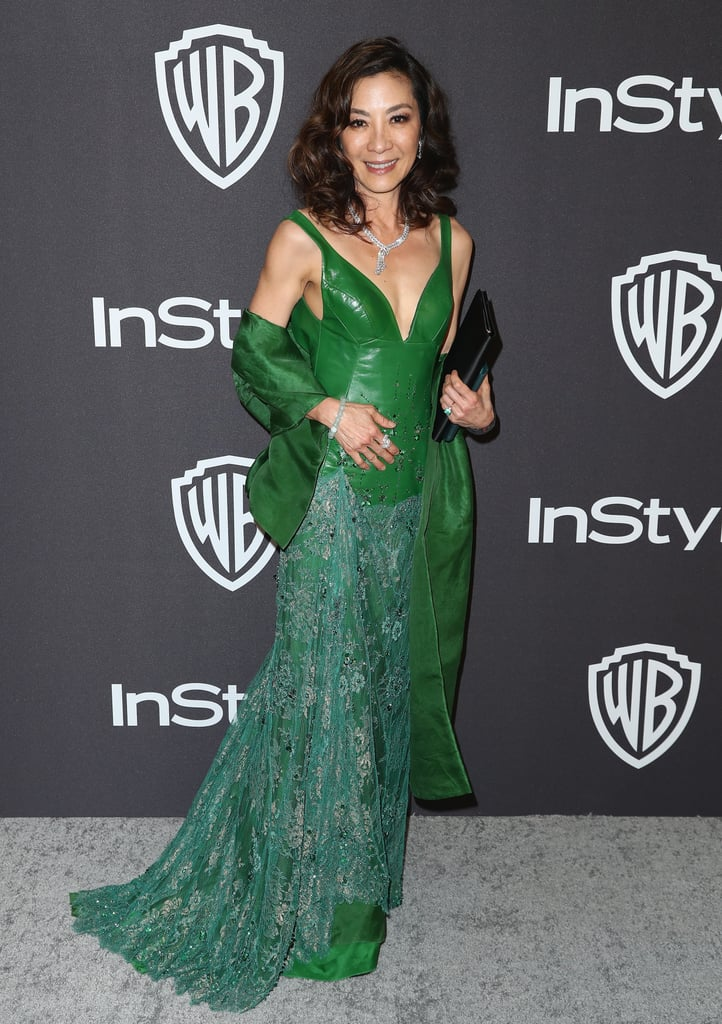 Michelle Yeoh Wears Crazy Rich Asians Ring at Golden Globes