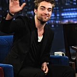 Rob waved to fans in the audience of Late Night With Jimmy Fallon.