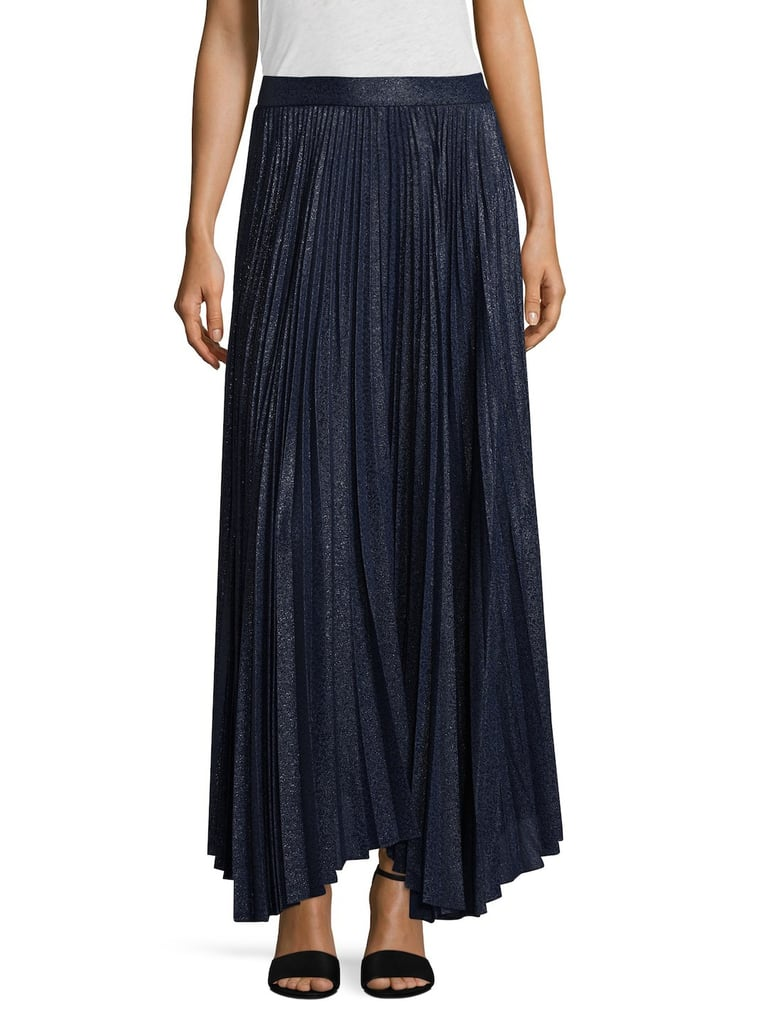 Alice + Olivia Silk Blend Pleated Skirt