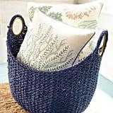 Loft Indigo Blue Wicker Oval Basket
