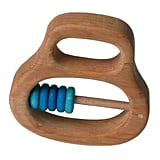 Wooden Blue Bead Rattle