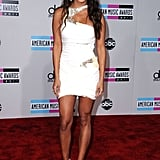 Vanessa Minnillo posed on the red carpet at the 2011 American Music Awards.