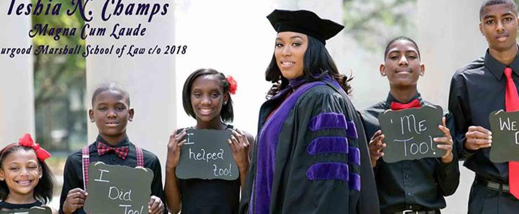 Single Mom Graduates Law School