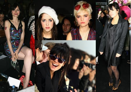 Celebrities In Front Row At PPQ Show At London Fashion Week