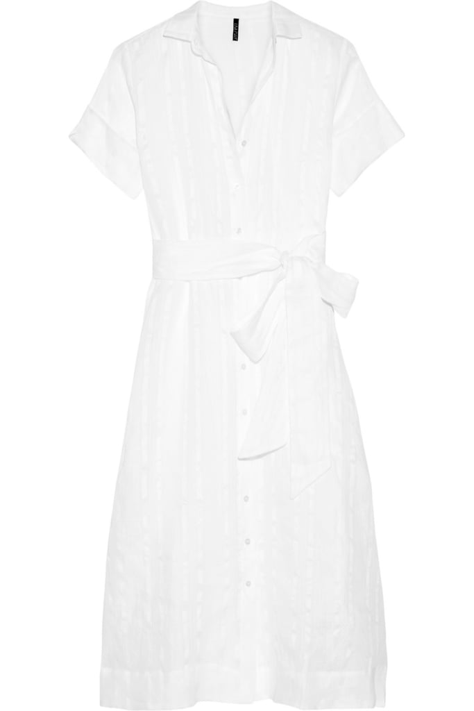 Lisa Marie Fernandez Cotton and linen-blend striped gauze shirt dress ($575)