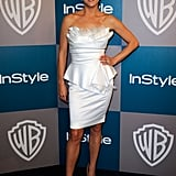 Kate Walsh wore white for InStyle's Golden Globes afterparty.