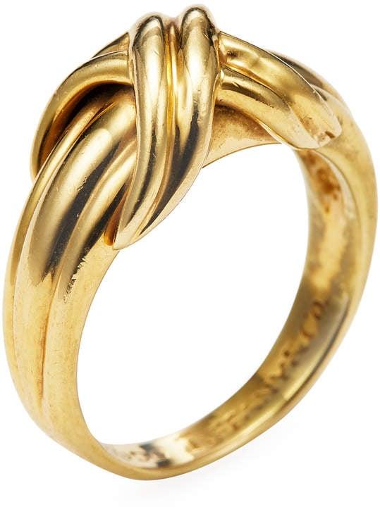 Tiffany Co Women S Vintage 18k Yellow Gold X Ring Emily