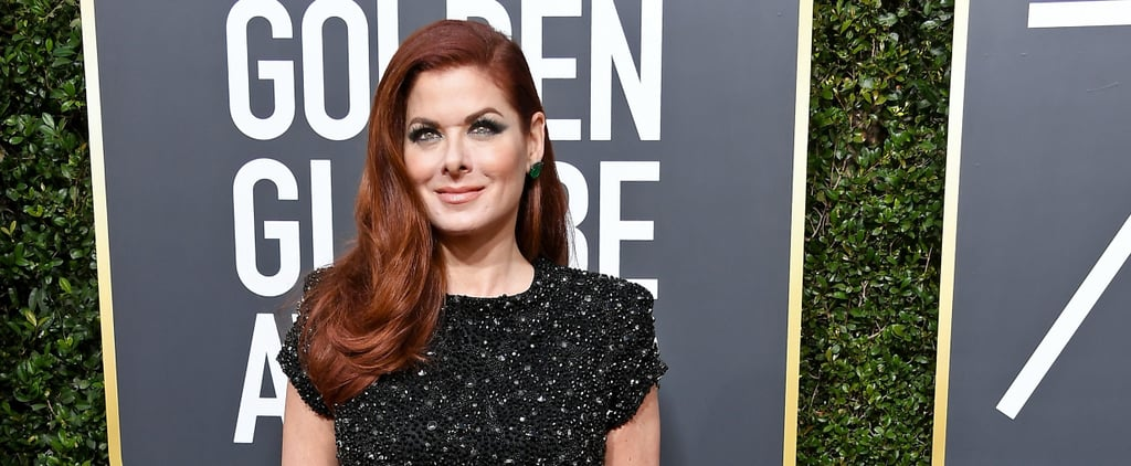 Debra Messing Calling Out E! at Golden Globes 2018