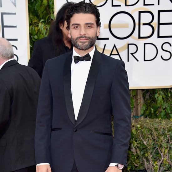 Oscar Isaac at Golden Globes 2016