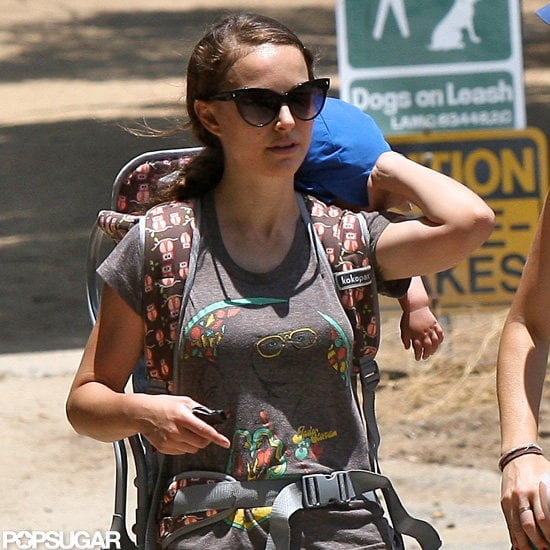 Natalie Portman hiked with Aleph Millepied.
