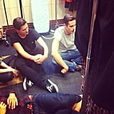 We stalked down some male models backstage at Myer. Call us creepy, if you must.