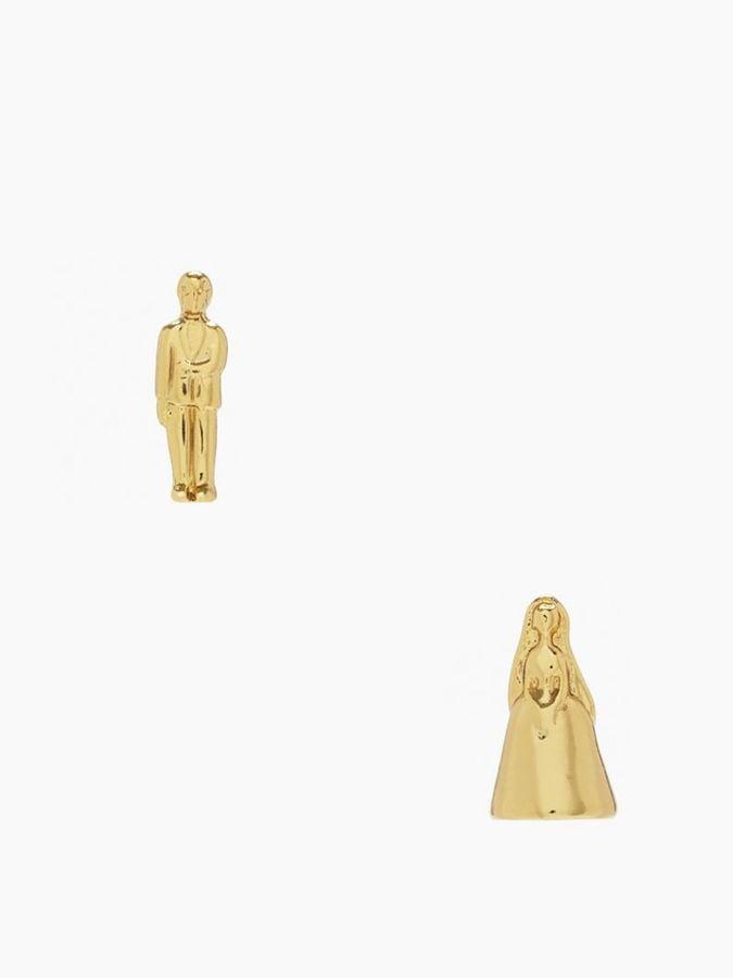 Kate Spade Gold Cake Topper Stud Earrings